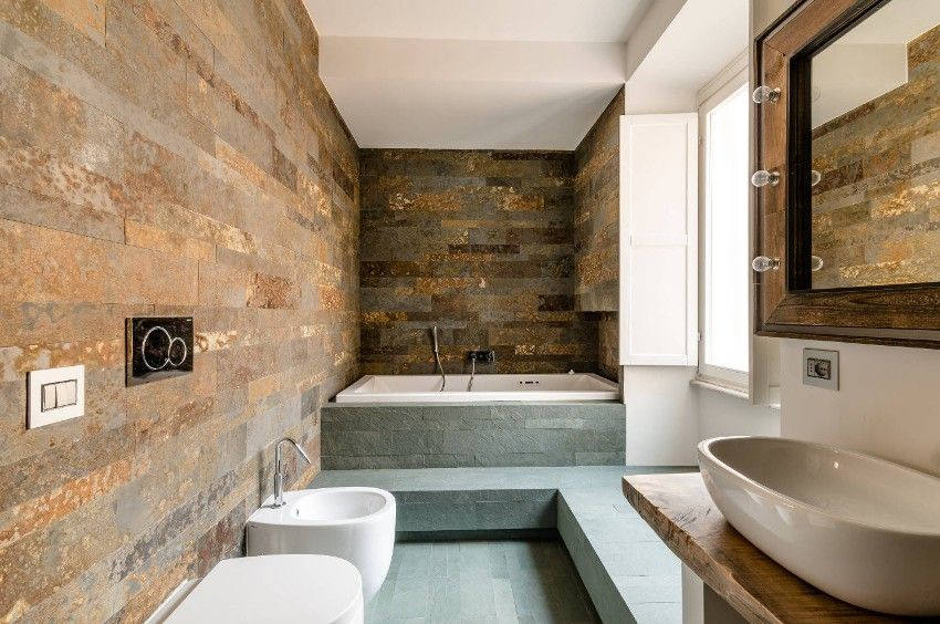 Bagno combinato: interior design, layout e design
